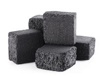 Charcoal cubes Royalty Free Stock Images