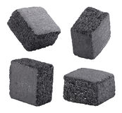 Charcoal cubes Stock Photos