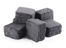 Charcoal cubes Stock Photos