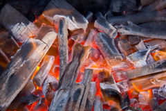 Charcoal fire. Royalty Free Stock Photo