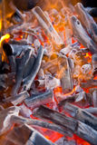 Charcoal fire. Stock Photography