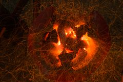 Charcoal fire background Stock Photography