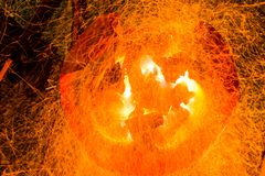 Charcoal fire background Stock Images