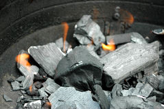 Charcoal fire Royalty Free Stock Image