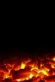 Charcoal fire background Stock Photo