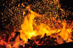 Charcoal fire. Stock Photo
