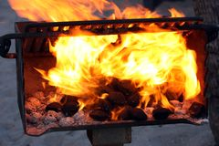 Charcoal fire grill Royalty Free Stock Photography