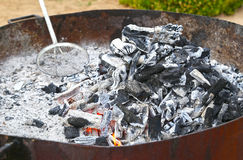 Charcoal fire grill Stock Photos
