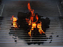 Charcoal fire grill Stock Images