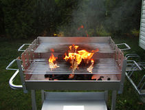 Charcoal fire grill Stock Photo