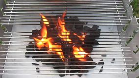 Charcoal fire grill Stock Photography