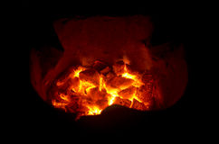 Charcoal fire Stock Photos