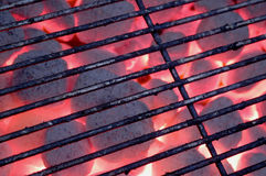 Charcoal grill. Hot charcoal barbecue grill Royalty Free Stock Photography