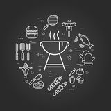 Charcoal Grill on black Stock Image