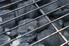Charcoal Grill. Close up of charcoal grill Royalty Free Stock Images