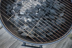 Charcoal Grill. Close up of charcoal grill Royalty Free Stock Photography