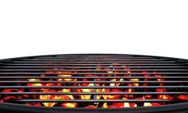 Charcoal Grill. Close up. White background Royalty Free Stock Photo