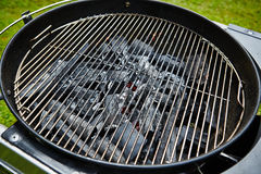 Charcoal in grill Royalty Free Stock Photography