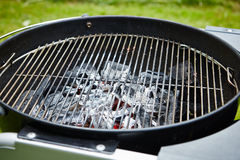 Charcoal in grill Stock Photo