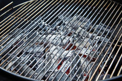 Charcoal in grill Royalty Free Stock Photos