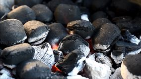 Charcoal grill fire stock video footage