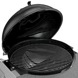 Charcoal Grill with folding metal lid for roasting, zoomed view Royalty Free Stock Photo