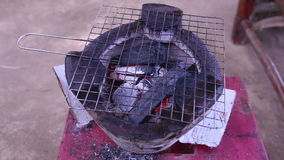 charcoal grill on vietnam stove stock video