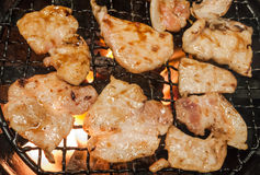 Charcoal grilled pork Royalty Free Stock Photography