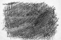 Charcoal hand drawing texture. Royalty Free Stock Photos