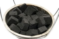 Charcoal for hookah Royalty Free Stock Photos