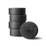 Charcoal for hookah. Vector charcoal stack for hookah pipe isolated on white background Royalty Free Stock Photography