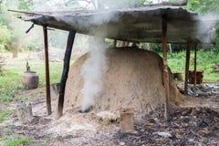 Charcoal incinerator Stock Photo