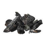 Charcoal isolated on white Stock Image