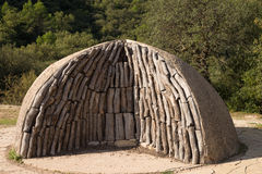 Charcoal kiln in the nature Royalty Free Stock Photos