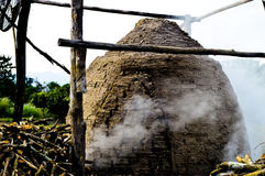Charcoal Kiln in Thailand Stock Image