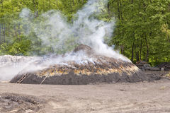 Charcoal kiln Stock Photography