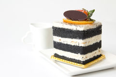 Charcoal layer cake Stock Images