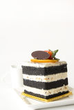 Charcoal layer cake Royalty Free Stock Image