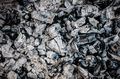 Charcoal lumps Stock Images