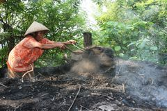 Charcoal makers Stock Images