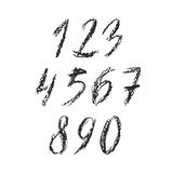 Charcoal numbers Royalty Free Stock Images