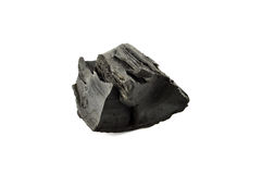 Charcoal. Pieces of charcoal isolated on white background Stock Photo