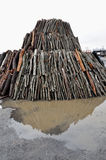 Charcoal pile Royalty Free Stock Photos