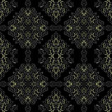 Charcoal retro Wallpaper with white-gray elements. Stock Photo