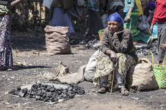 Charcoal seller, Ethiopia Stock Photography