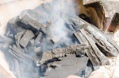 Charcoal and smoke Royalty Free Stock Photo