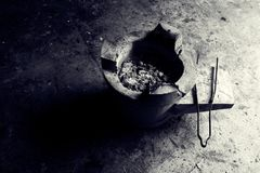 Charcoal stove BW Royalty Free Stock Photos