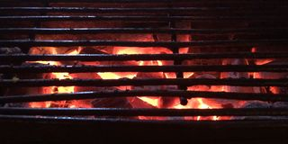 Charcoal in stove Royalty Free Stock Photography