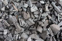 Charcoal is used as fuel cooking. Charcoal is used as fuel cooking of Thailand Royalty Free Stock Photos