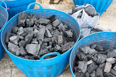Charcoal is used as fuel cooking. Charcoal is used as fuel cooking of Thailand Stock Photos